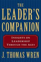 The Leader s Companion  Insights on Leadership Through the Ages PDF