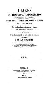 Diario di Francesco Capecelatro: contenente la storia delle cose avvenute nel reame di Napoli negli anni 1647 - 1650, Volume 3