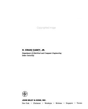 Devices for Integrated Circuits PDF