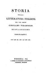 Storia della letteratura italiana: Volume 20