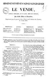 Le vendu tableau populaire, en un acte, mele de couplets par MM. Didier et Deslandes