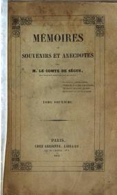 Mémoires, ou Souvenirs et anecdotes