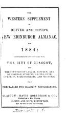 Oliver   Boyd s new Edinburgh almanac and national repository   With  Western suppl PDF