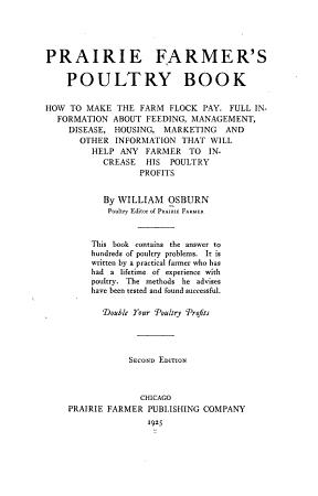 Prairie Farmer s Poultry Book PDF