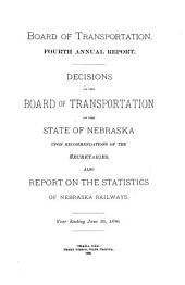 Annual Report of the Board of Transportation for the Year Ending ...: Volume 4, Part 1890