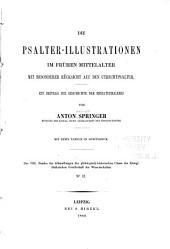 Die Psalter-Illustrationen im frühen Mittelalter: mit besonderer Rücksicht auf den Utrechtpsalter : ein Beitrag zur Geschichte der Miniaturmalerei