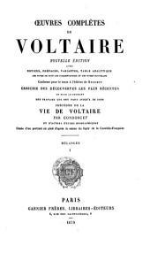 Œuvres complètes de Voltaire: Mélanges
