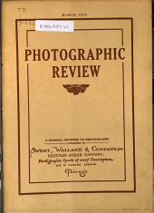 Photographic Review: A Journal Devoted to Photography, Volume 24, Issue 3