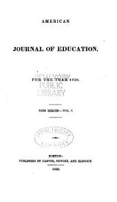 The American Journal of Education and College Review: Volume 1