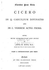 In Q. Caecilium Divinatio and In C. Verrem Actio Prima