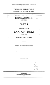 Regulations No. 43 (Rvised), Part 2, Relating to the Tax on Dues Under the Revenue Act of 1918