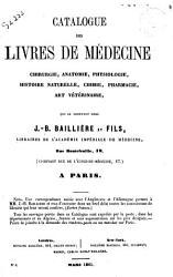 Catalogue des livres de medecine chirurgie  anatomie  physiologie  histoire naturelle PDF
