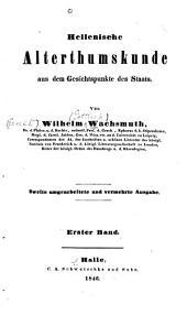 Hellenische alterthumskunde aus dem gesichtspunkte des staates: Band 1