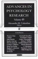 Advances in Psychology Research  Volume 49 PDF