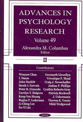 Advances in Psychology Research: Volume 49