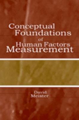 Conceptual Foundations of Human Factors Measurement PDF