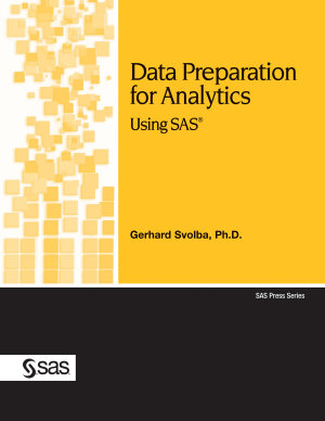Data Preparation for Analytics Using SAS PDF