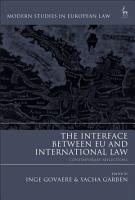 The Interface Between EU and International Law PDF