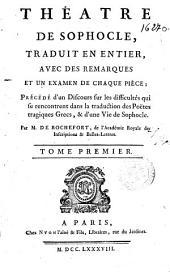 Théâtre de Sophocle: Volume1