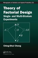 Theory of Factorial Design PDF