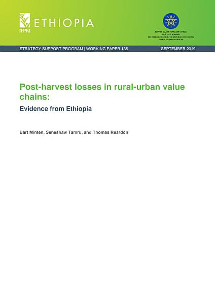 Download Post harvest losses in rural urban value chains  Evidence from Ethiopia Book