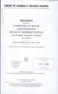 Library of Congress IT Strategic Planning PDF