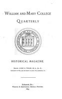 William and Mary College Quarterly Historical Magazine PDF