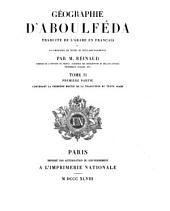 Géographie d'Aboulféda: Volume2