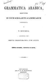 Grammatica arabica, breviter in usum scholarum academicarum conscripta: المجلد 1