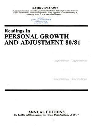 Readings in Personal Growth and Adjustment 80 81