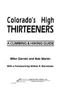 Colorado s High Thirteeners
