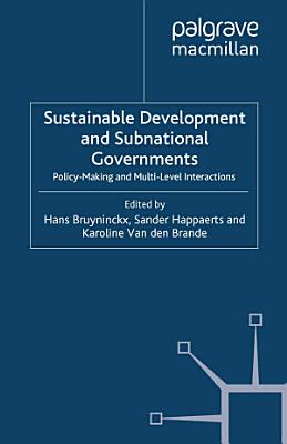 Sustainable Development and Subnational Governments PDF