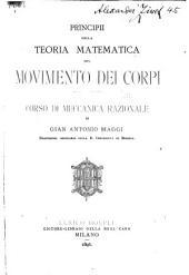 Principii della teoria matematica del movimento dei corpi: corso di meccanica razionale
