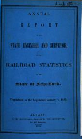Annual report of the State Engineer and Surveyor on the railroad: transmitted to the legislature. 1853, 4. Jan