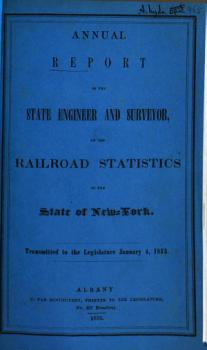 Annual report of the State Engineer and Surveyor on the railroad PDF