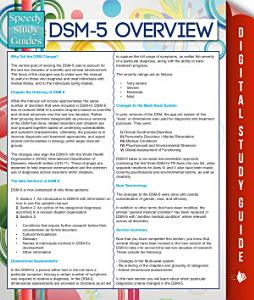 DSM 5 Overview  Speedy Study Guides  Book