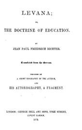 Levana: Or, The Doctrine of Education