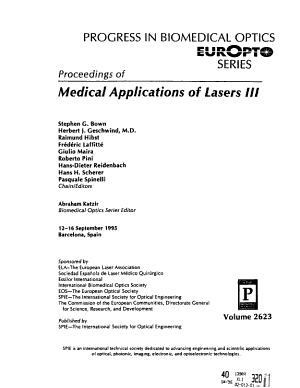 Proceedings of Medical Applications of Lasers PDF