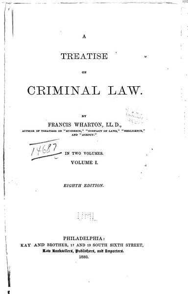 Download A Treatise on Criminal Law Book
