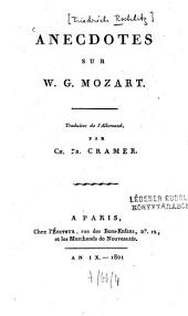 Anecdotes sur W. G. Mozart