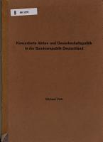 Konzertierte Aktion und Gewerkschaftspolitik in der Bundesrepublik Deutschland PDF