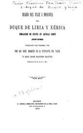 Diario del viaje á Moscovia del duque de Liria y Xérica: embajador de España en aquella corte (1727-1730)