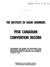 1958 Canadian Convention Record PDF