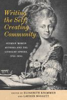 Writing the Self  Creating Community PDF