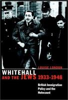 Whitehall and the Jews  1933 1948 PDF