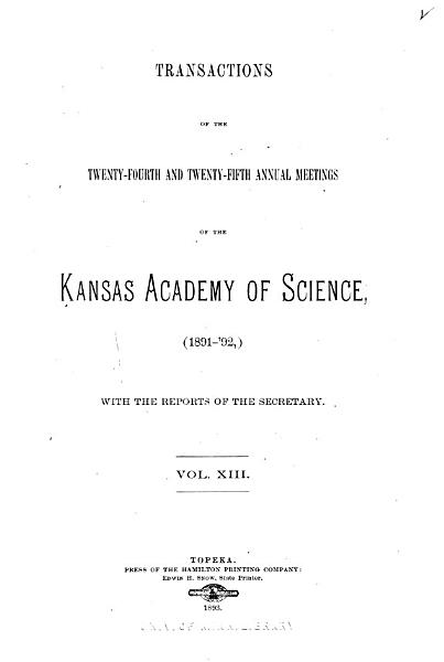Download Transactions of the     Annual Meeting of the Kansas Academy of Science Book