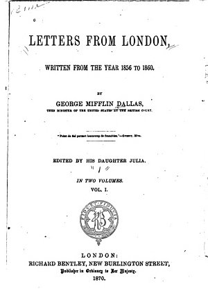Letters from London  Written from the Year 1856 to 1860