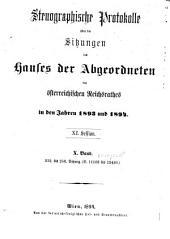 Stenographische Protokolle über die Sitzungen des Hauses der Abgeordneten des österreichischen Reichsrates: Ausgaben 232-258