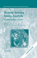 Remote Sensing Image Analysis  Including the Spatial Domain PDF