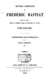 Œuvres complètes de Frédéric Bastiat: Volume3
